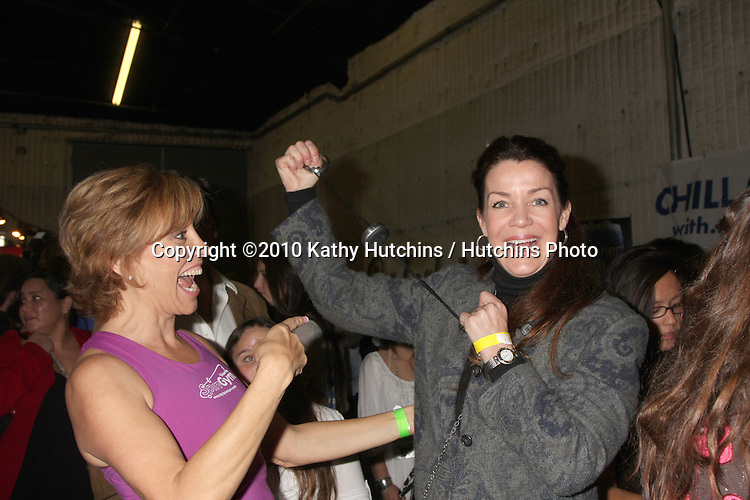 LOS ANGELES - NOV 20:  Forbes Riley, Claudia Christian at the Connected's Celebrity Gift Suite celebrating the 2010 American Music Awards at Ben Kitay Studios on November 20, 2010 in Los Angeles, CA