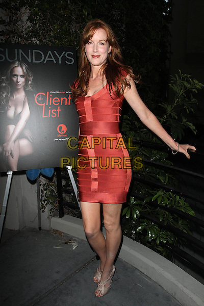 "Kathleen York.Launch Party For ""The Client List"" held at Sunset Tower Hotel, West Hollywood, California, USA..April 4th, 2012.full length red dress.CAP/ADM/KB.©Kevan Brooks/AdMedia/Capital Pictures."