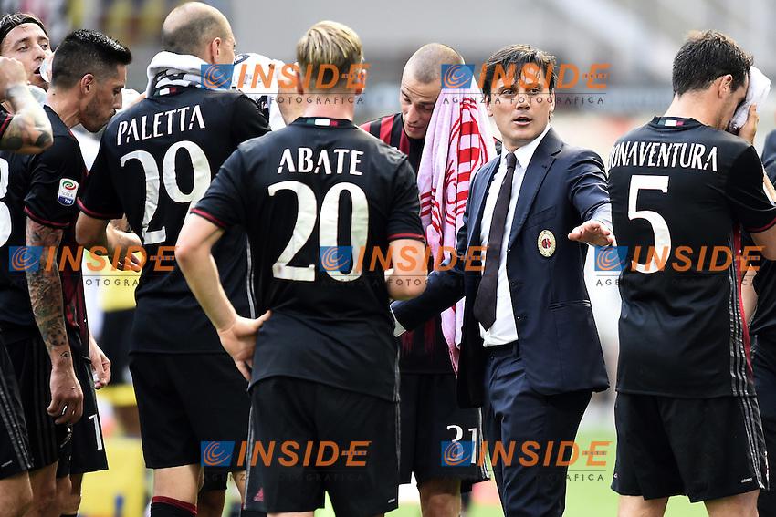 Vincenzo Montella<br /> Milano 11-09-2016 Stadio Giuseppe MeazzaFootball Calcio Serie A 2016/2017 Milan-Udinese. Foto Daniele Buffa / Image Sport / Insidefoto