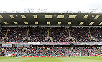 Burnley fans enjoy the first half actin<br /> <br /> Photographer Rich Linley/CameraSport<br /> <br /> The Premier League - Burnley v Manchester City - Sunday 28th April 2019 - Turf Moor - Burnley<br /> <br /> World Copyright © 2019 CameraSport. All rights reserved. 43 Linden Ave. Countesthorpe. Leicester. England. LE8 5PG - Tel: +44 (0) 116 277 4147 - admin@camerasport.com - www.camerasport.com