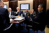 United States President Barack Obama and Vice President Joe Biden meet with the national security team on Afghanistan and Pakistan in the Situation Room of the White House, Wednesday, November 17, 2010. .Mandatory Credit: Pete Souza - White House via CNP