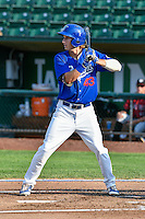 Mitchell Hansen (43) of the Ogden Raptors at bat against the Idaho Falls Chukars in Pioneer League action at Lindquist Field on September 3, 2016 in Ogden, Utah. The Chukars defeated the Raptors 3-0. (Stephen Smith/Four Seam Images)
