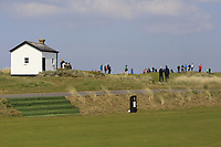 Spectators watching play on the 3rd green during Round 3 of The West of Ireland Open Championship in Co. Sligo Golf Club, Rosses Point, Sligo on Saturday 6th April 2019.<br /> Picture:  Thos Caffrey / www.golffile.ie