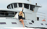 Press Conference with Pamela Anderson on the Sea shepherd SSS Brigitte Bardot docked at Marina del Rey CA. November 2, 2012.