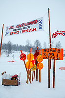 during the start of the 2018 Junior Iditarod Sled Dog Race on Knik Lake in Southcentral, Alaska.  Saturday February 24, 2018<br /> <br /> Photo by Jeff Schultz/SchultzPhoto.com  (C) 2018  ALL RIGHTS RESERVED