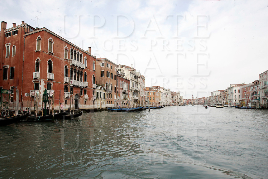 Una veduta del Canal Grande a Venezia.<br /> A view of the Grand Canal in Venice.<br /> UPDATE IMAGES PRESS/Riccardo De Luca