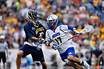 FOXBORO, MA - MAY 28: Colton Watkinson (17) of the Limestone Saints during the Division II Men's Lacrosse Championship held at Gillette Stadium on May 28, 2017 in Foxboro, Massachusetts. (Photo by Larry French/NCAA Photos via Getty Images)