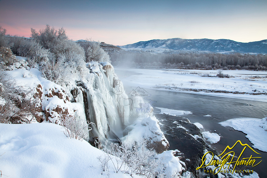 Winter at Fall Creek Falls in Swan Valley Idaho