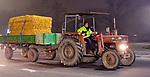 """05.12.2019, Stadtgebiet, Memmingen, GER, Bauern-Demonstration in Memmingen, Ueber 4000 Bauern demonstrierten mit fast 3000 Traktoren in Memmingen. Organisiert wurde die Demo von """"Land schafft Verbindung"""". Auf der anschliesenden Kundgebung sprach ua. die bayr. Landwirtschaftsministerin Michaela Kaniber, <br /> im Bild<br /> <br /> Foto © nordphoto / Hafner"""