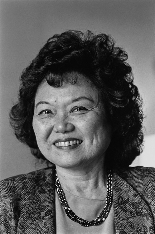 Rep. Patsy Mink, D-Hawaii, on July 16, 1991. (Photo by Maureen Keating/CQ Roll Call via Getty Images)