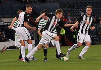 Lewis Martin taking the ball in the Dunfermline Athletic v Celtic Scottish Football Association Youth Cup Final match played at Hampden Park, Glasgow on 1.5.13. ..