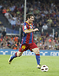 3.10.10 Barcelona, Spain, La Liga , day 6 , FC Barcelona draw with Mallorca at Nou Camp 1 - 1. Messi fast run to box area