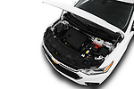 Car stock 2018 Chevrolet Traverse LS 5 Door SUV engine high angle detail view