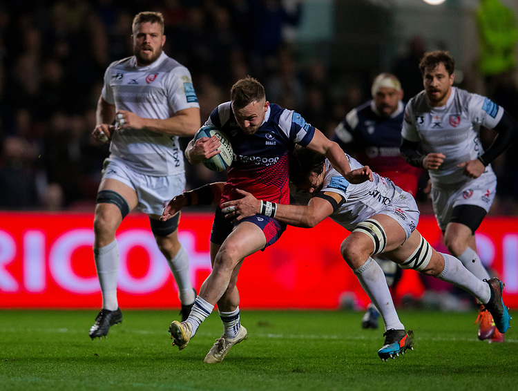 Bristol Bears' Andy Uren in action during todays match<br /> <br /> Photographer Bob Bradford/CameraSport<br /> <br /> Gallagher Premiership - Bristol Bears v Gloucester Rugby - Friday 1st March 2019 - Ashton Gate - Bristol<br /> <br /> World Copyright © 2019 CameraSport. All rights reserved. 43 Linden Ave. Countesthorpe. Leicester. England. LE8 5PG - Tel: +44 (0) 116 277 4147 - admin@camerasport.com - www.camerasport.com