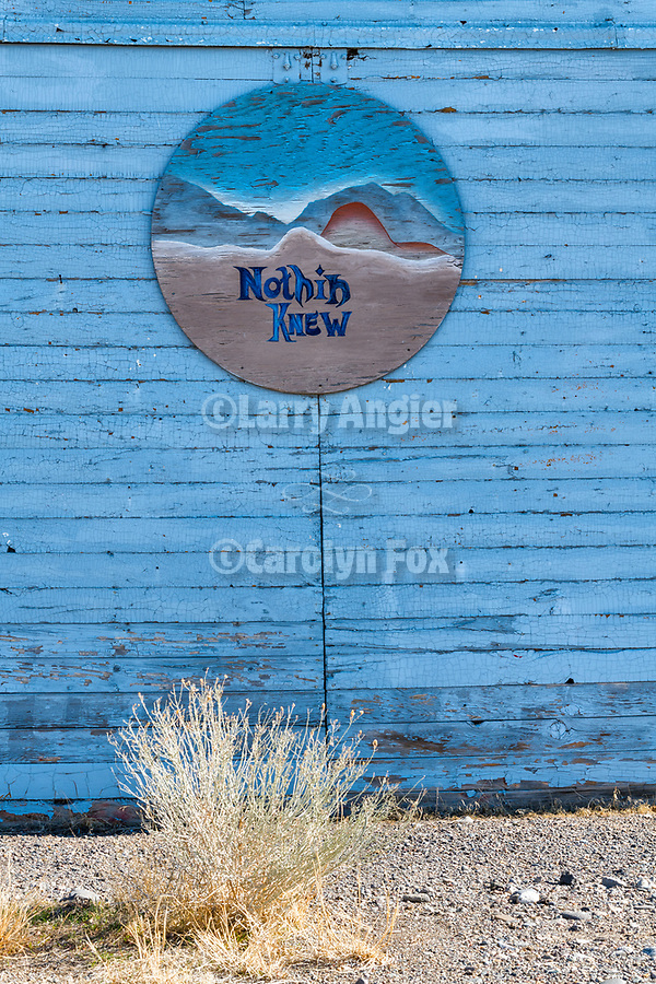 Nothing View gallery sign, Wadsworth, Nevada.
