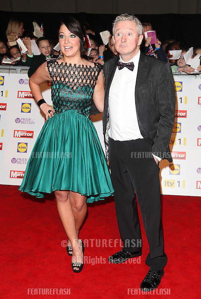 Tulisa Contostavlos and Louis Walsh arriving for the 2012 Pride of Britain Awards, at the Grosvenor House Hotel, London. 29/10/2012 Picture by: Alexandra Glen / Featureflash