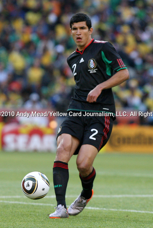 11 JUN 2010: Francisco Rodriguez (MEX). The South Africa National Team tied the Mexico National Team 1-1 at Soccer City Stadium in Johannesburg, South Africa in the opening match of the 2010 FIFA World Cup.