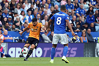 Ruben Neves of Wolverhampton Wanderers and Youri Tielemans of Leicester City during Leicester City vs Wolverhampton Wanderers, Premier League Football at the King Power Stadium on 11th August 2019