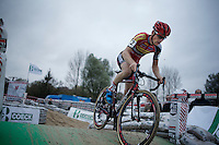 race leader Kevin Pauwels (BEL/Sunweb-Napoleon Games)<br /> <br /> Jaarmarktcross Niel 2015  Elite Men &amp; U23 race