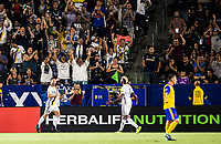 Carson, CA - Saturday September 02, 2017: Romain Alessandrini goal celebration the Los Angeles Galaxy defeated the Colorado Rapids 3-0 during a Major League Soccer (MLS) game at StubHub Center.