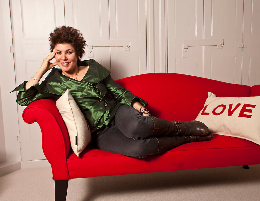 Ruby Wax photographed at her home in Notting Hill, London.