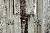 Old Door Hardware at Presidio La Bahia