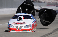 Nov 13, 2010; Pomona, CA, USA; NHRA pro stock driver Mike Edwards during qualifying for the Auto Club Finals at Auto Club Raceway at Pomona. Mandatory Credit: Mark J. Rebilas-