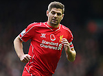 Steven Gerrard of Liverpool  - Barclays Premier League - Liverpool vs Chelsea - Anfield Stadium - Liverpool - England - 8th November 2014  - Picture Simon Bellis/Sportimage