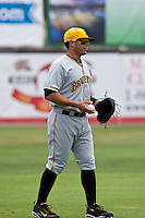 Tony Sanchez (26) of the Bradenton Marauders during a game vs. the Dunedin Blue Jays May 16 2010 at Dunedin Stadium in Dunedin, Florida. Bradenton won the game against Dunedin by the score of 3-2.  Photo By Scott Jontes/Four Seam Images