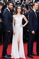 "(L-R: Jake Gyllenhaal, Lily Collins and Paul Dano at the ""Okja"" premiere during the 70th Cannes Film Festival at the Palais des Festivals on May 19, 2017 in Cannes, France. (c) John Rasimus /MediaPunch ***FRANCE, SWEDEN, NORWAY, DENARK, FINLAND, USA, CZECH REPUBLIC, SOUTH AMERICA ONLY***"