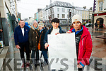 Pictured at a protest against 5G on Tuesday last were l-r: John McEaneney (Listowel) with Helena Shanahan, Helen Fitzgibbon, Elaine Burrows Dillane and Mags O'Sullivan (all Tralee).