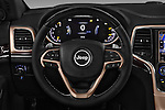 Car pictures of steering wheel view of a 2016 JEEP Grand-Cherokee Overland 5 Door Suv Steering Wheel