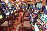 Cruiseship interior with slot machines