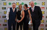 19/05/2015 <br /> (L to r) Mick Richford Annmaire Norman <br /> Lorraine rochford jimmy Norman<br /> during the Irish mirror pride of Ireland awards at the mansion house, Dublin.<br /> Photo: gareth chaney Collins