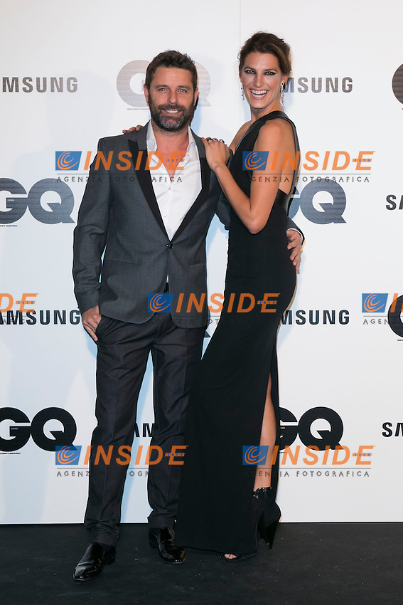"""David Ascanio and Laura Sanchez attends the """"GQ AWARDS"""" at Palace Hotel in Madrid, Spain. November 3, 2014. (ALTERPHOTOS/Carlos Dafonte/Insidefoto)"""