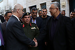 Palestinian Prime Minister Rami Hamdallah offers condolences for the family of Mohammad Habali, who was killed by Israeli forces, in the West Bank city of Tulkarem, on December 4, 2018. Photo by Prime Minister Office
