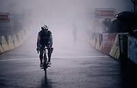 Philippe Gilbert (BEL/Deceuninck-Quickstep) crosses the finish line as a thick mist engulfs the area<br /> <br /> Stage 7: Saint-Genix-les-Villages to Pipay  (133km)<br /> 71st Critérium du Dauphiné 2019 (2.UWT)<br /> <br /> ©kramon