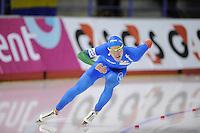 SCHAATSEN: Calgary: Essent ISU World Sprint Speedskating Championships, 28-01-2012, 500m Heren, Mirko G. Nenzi (ITA), ©foto Martin de Jong