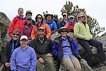 Group photo of Colorado Mountain Club during a map and compass field trip, Front Range, Colorado.