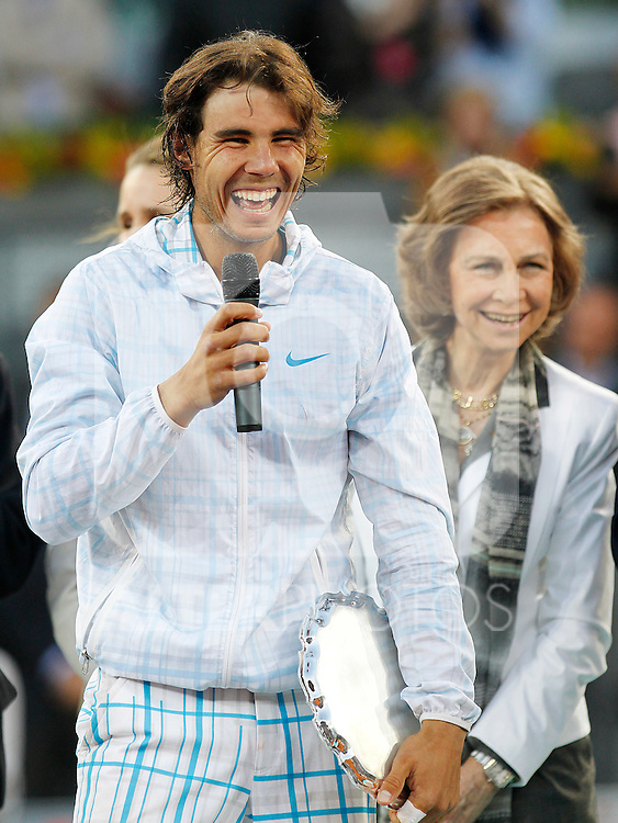 Rafael Nadal winner in the Tennis Madrid Open ATP Singles Final with Queen Sofia of Spain, May 16,2010..(Alfaqui/Alex Cid-Fuentes)