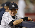 Ichiro Suzuki (Yankees),.APRIL 26, 2013 - MLB :.Ichiro Suzuki of the New York Yankees smiles in the dugout during the baseball game against the Toronto Blue Jays at Yankee Stadium in The Bronx, New York, United States. (Photo by AFLO)