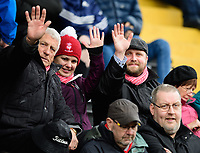 Lincoln City fans enjoy the pre-match atmosphere<br /> <br /> Photographer Chris Vaughan/CameraSport<br /> <br /> The EFL Sky Bet League Two - Lincoln City v Crewe Alexandra - Saturday 6th October 2018 - Sincil Bank - Lincoln<br /> <br /> World Copyright &copy; 2018 CameraSport. All rights reserved. 43 Linden Ave. Countesthorpe. Leicester. England. LE8 5PG - Tel: +44 (0) 116 277 4147 - admin@camerasport.com - www.camerasport.com