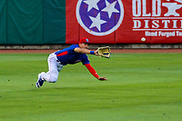Tennessee Smokies outfielder Jacob Hannemann (7) during a Southern League game against the Biloxi Shuckers on May 25, 2017 at Smokies Stadium in Kodak, Tennessee.  Tennessee defeated Biloxi 10-4. (Brad Krause/Krause Sports Photography)