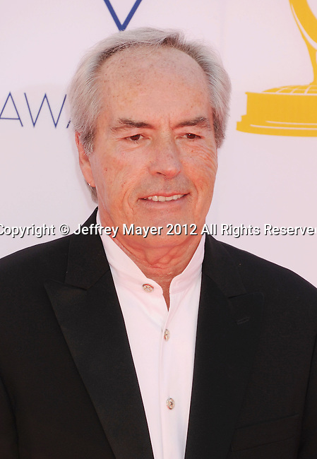 LOS ANGELES, CA - SEPTEMBER 23: Powers Boothe arrives at the 64th Primetime Emmy Awards at Nokia Theatre L.A. Live on September 23, 2012 in Los Angeles, California.