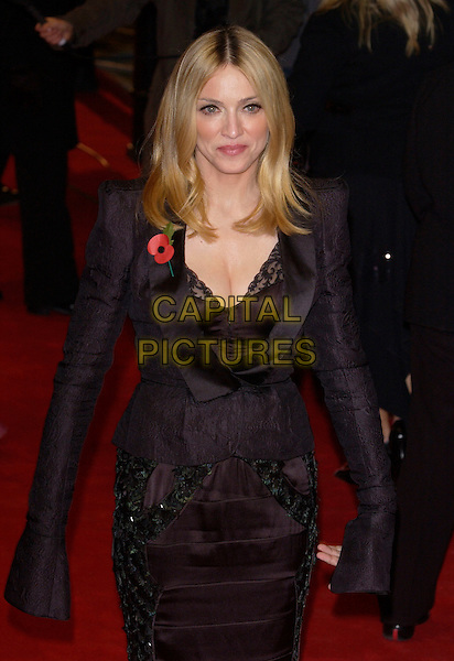MADONNA.UK Music Hall of Fame.Hackney Empire.London 11 November 2004.Ref: PL.half length black jacket cuffs lace camisole top cleavage poppy.www.capitalpictures.com.sales@capitalpictures.com.©Capital Pictures.