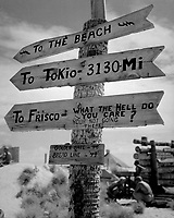 Sign on Tarawa illustrates Marine humor and possible lack of optimism as to duration of war.  June 1944. Lt. Comdr. Charles Fenno Jacobs. (Navy)<br /> Exact Date Shot Unknown<br /> NARA FILE #:  080-G-476304<br /> WAR &amp; CONFLICT BOOK #:  1197