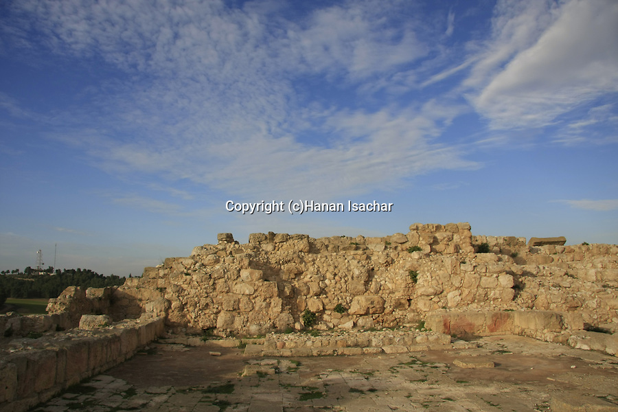 Israel, Shephelah, the ancient Synagogue of Hurvat Rimon