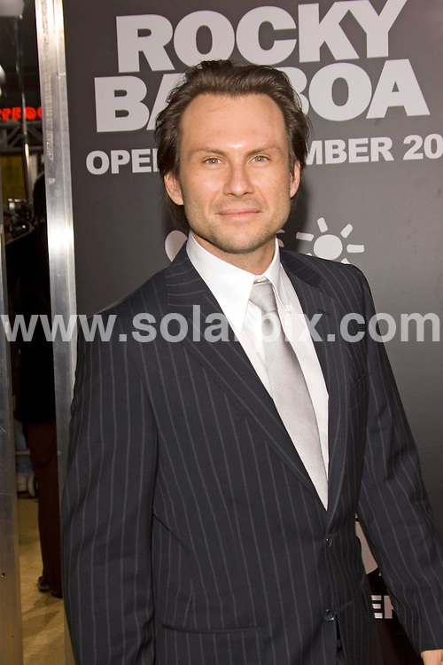 ALL ROUND PICTURES FROM SOLARPIX.COM SYNDICATION RIGHTS FOR UK, SOUTH AFRICA, DUBAI, AUSTRALIA..Christian Slater arrives at the premiere of the film, ROCKY BALBOA in Hollywood, Ca. at Grauman's Chinese Theater on Dec 13, 2006...DATE: 13/12/2006-JOB REF: 3164-PHZ.**MUST CREDIT SOLARPIX.COM OR DOUBLE FEE WILL BE CHARGED**