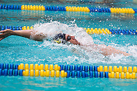 BERKELEY, CA - Feb. 18, 2017: Cal's Ryan Murphy swims in the Men 200 Yard Backstroke.  Cal Men's Swimming and Diving competed against Stanford at Spieker Aquatics Complex.