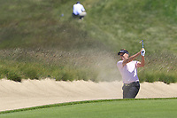 Ian Poulter (ENG) plays his 3rd shot from a fairway bunker on the 13th hole during Thursday's Round 1 of the 118th U.S. Open Championship 2018, held at Shinnecock Hills Club, Southampton, New Jersey, USA. 14th June 2018.<br /> Picture: Eoin Clarke | Golffile<br /> <br /> <br /> All photos usage must carry mandatory copyright credit (&copy; Golffile | Eoin Clarke)